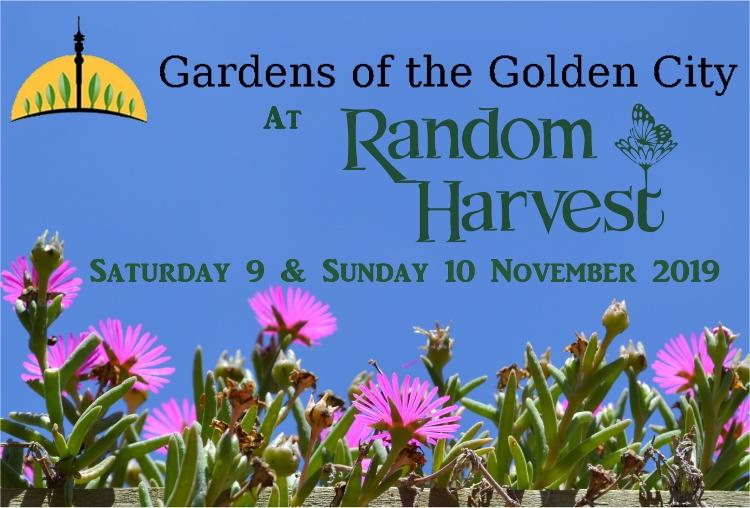 Talk Schedule for Gardens of the Golden City @ Random Harvest